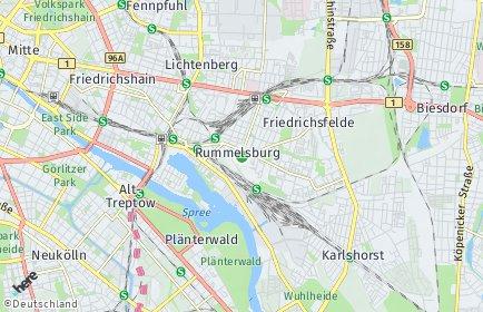 Stadtplan Berlin-Rummelsburg