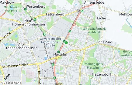 Stadtplan Berlin-Marzahn