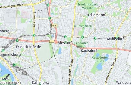 Stadtplan Berlin-Biesdorf