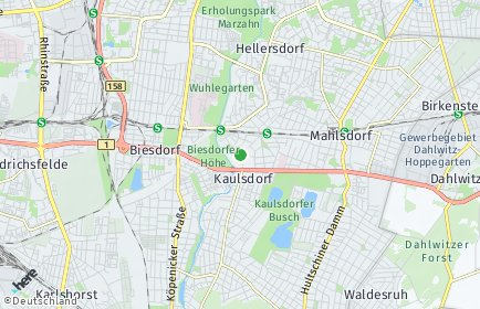 Stadtplan Berlin-Kaulsdorf