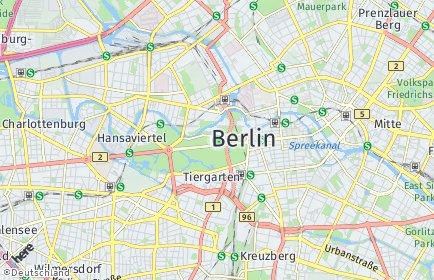 Stadtplan Berlin-Tiergarten