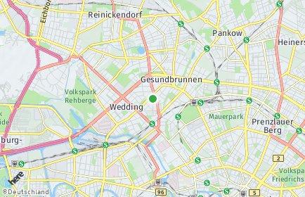 Stadtplan Berlin-Wedding