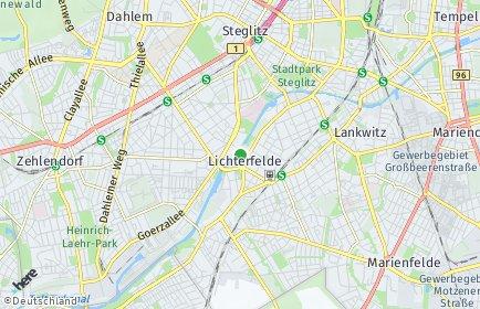 Stadtplan Berlin-Lichterfelde