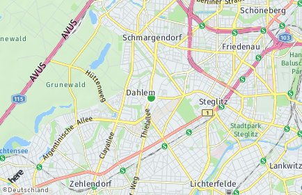 Stadtplan Berlin-Dahlem