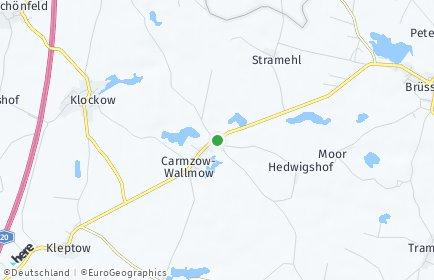 Stadtplan Carmzow-Wallmow