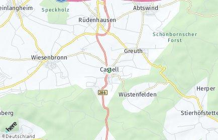 Stadtplan Castell