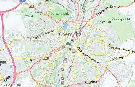 Stadtplan Chemnitz OT Borna-Heinersdorf
