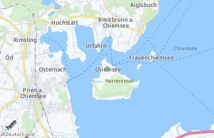 Stadtplan Chiemsee