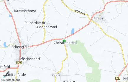 Stadtplan Christinenthal