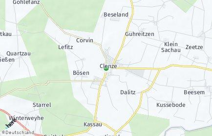 Stadtplan Clenze