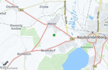 Stadtplan Mecklenburgische Seenplatte