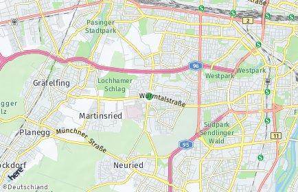 Stadtplan München OT Hadern