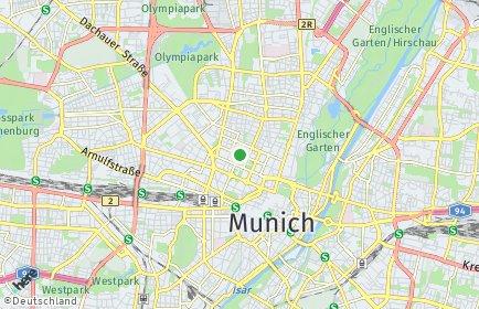Stadtplan München OT Maxvorstadt