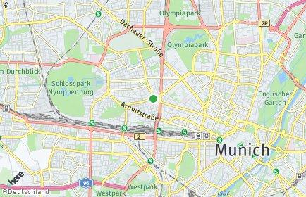 Stadtplan München OT Neuhausen-Nymphenburg