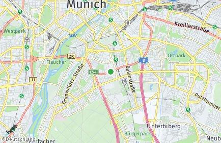 Stadtplan München OT Obergiesing-Fasangarten