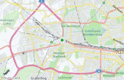 Stadtplan München OT Pasing-Obermenzing