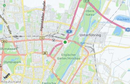 Stadtplan München OT Schwabing-Freimann