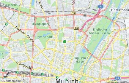 Stadtplan München OT Schwabing-West