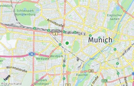 Stadtplan München OT Schwanthalerhöhe
