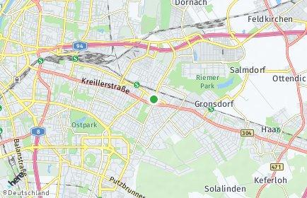 Stadtplan München OT Trudering-Riem