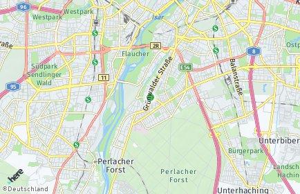 Stadtplan München OT Untergiesing-Harlaching