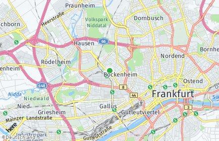 Stadtplan Frankfurt am Main OT Bockenheim
