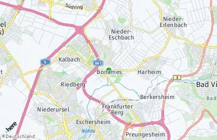 Stadtplan Frankfurt am Main OT Bonames