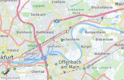 Stadtplan Frankfurt am Main OT Fechenheim