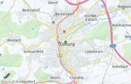 Stadtplan Coburg