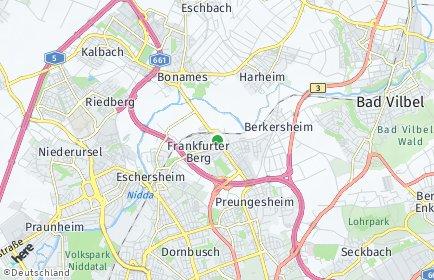 Stadtplan Frankfurt am Main OT Frankfurter Berg