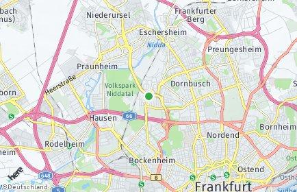 Stadtplan Frankfurt am Main OT Ginnheim