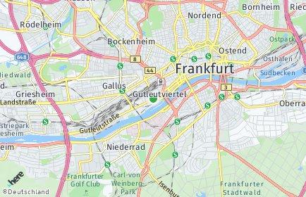 Stadtplan Frankfurt am Main OT Gutleutviertel