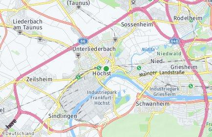 Stadtplan Frankfurt am Main OT Höchst