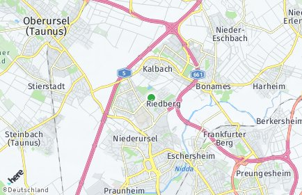 Stadtplan Frankfurt am Main OT Kalbach-Riedberg