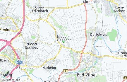 Stadtplan Frankfurt am Main OT Nieder-Erlenbach
