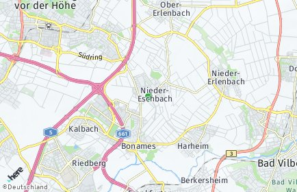 Stadtplan Frankfurt am Main OT Nieder-Eschbach