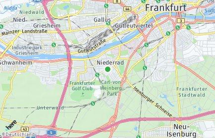 Stadtplan Frankfurt am Main OT Niederrad