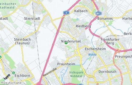 Stadtplan Frankfurt am Main OT Niederursel