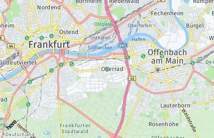 Stadtplan Frankfurt am Main OT Oberrad