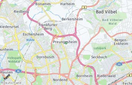 Stadtplan Frankfurt am Main OT Preungesheim