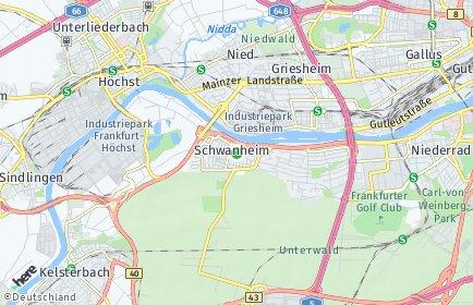 Stadtplan Frankfurt am Main OT Schwanheim