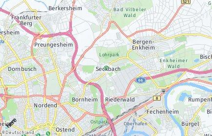 Stadtplan Frankfurt am Main OT Seckbach
