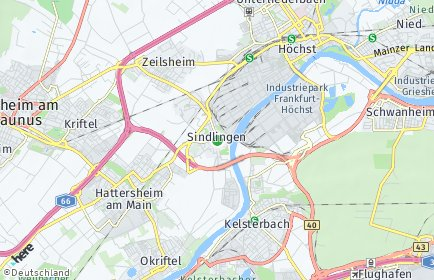Stadtplan Frankfurt am Main OT Sindlingen