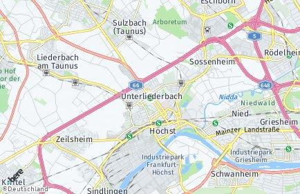 Stadtplan Frankfurt am Main OT Unterliederbach