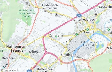 Stadtplan Frankfurt am Main OT Zeilsheim