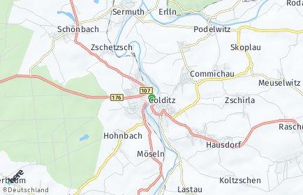 Stadtplan Colditz