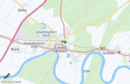 Stadtplan Coswig (Anhalt) OT Thießen