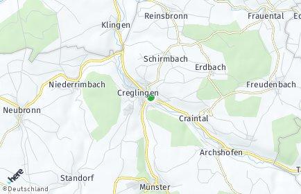 Stadtplan Creglingen OT Frauental