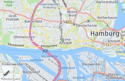 Stadtplan Hamburg-Altona OT Sülldorf
