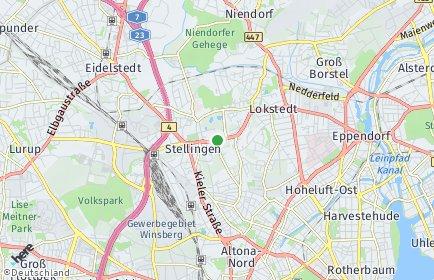 Stadtplan Hamburg-Eimsbüttel OT Hoheluft-West